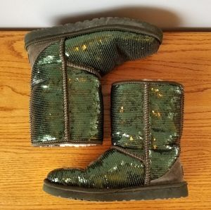 Shoes | UGG Green Sequin Boots